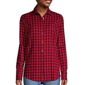 NEW Land's End Flannel Shirt Size 12